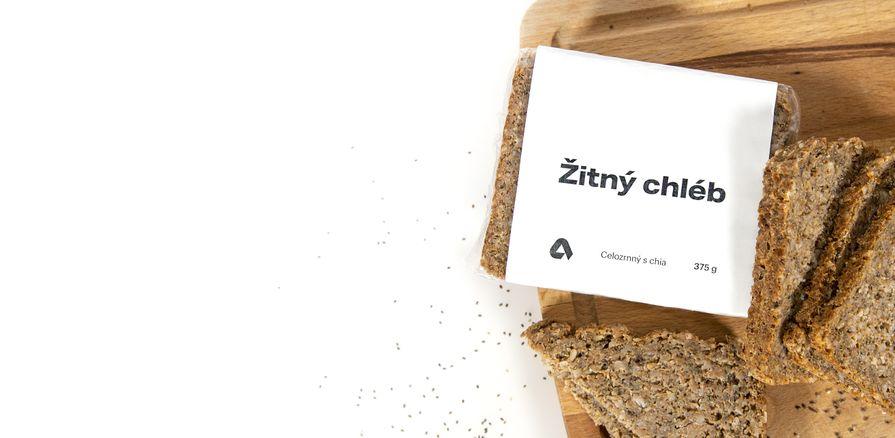 Ražný chlieb  s vysokým obsahom  vlákniny a omega-3
