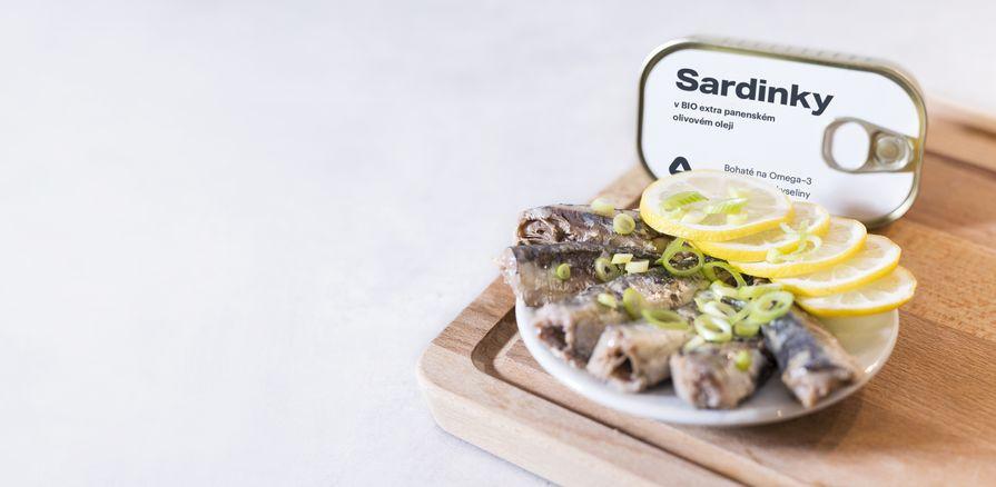 Vychutnaj si celé kúsky  šťavnatých sardiniek  v BIO olivovom oleji