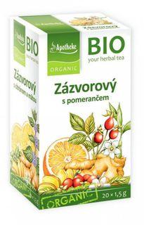 Green Apotheke Zázvorový čaj s pomarančom BIO
