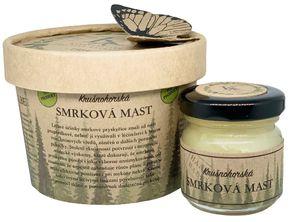 Krušnohorská lázeňská kosmetika Smreková masť so šípkovým extraktom