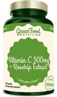 GreenFood Vitamín C 500 + Extrakt zo šípok