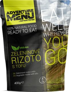 Adventure Menu Zeleninové rizoto s tofu