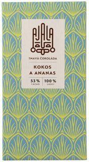 AJALA Tmavá čokoláda BIO kokos/ananas 45 g