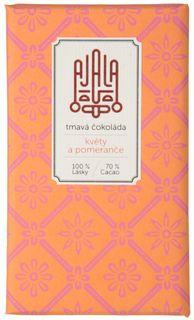 AJALA Tmavá čokoláda BIO kvety/pomaranč 45 g