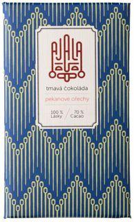AJALA Tmavá čokoláda BIO pekanový ořech 45 g