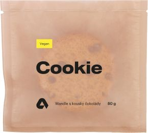 Aktin Vegan Proteínová Cookieska mandle s kúskami čokolády 80 g