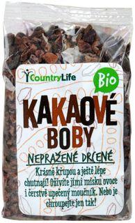 Country Life Kakaové bôby nepražené drvené BIO