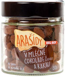 BIG BOY Arašidy v mliečnej čokoláde a kakau