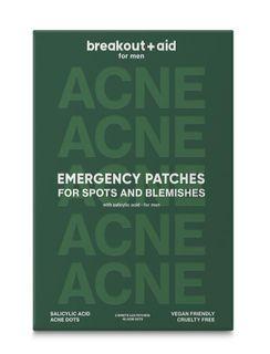 Breakout+aid Náplaste na lokálne ošetrenie akné pre mužov s kyselinou salicylovou