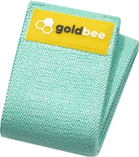 GoldBee Textilná odporová guma M tyrkysová stredný odpor