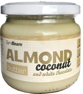 GymBeam Mandľové maslo s kokosom a bielou čokoládou