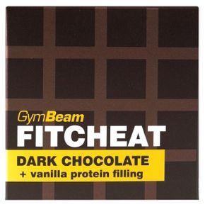 GymBeam Fitcheat Protein Chocolate horká čokoláda/vanilka 90 g