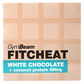 GymBeam Fitcheat Protein Chocolate bílá čokoláda/kokos 90 g