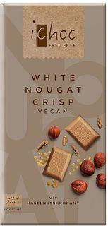 iChoc Vegan čokoláda biely nugát/oriešky 80 g