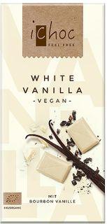 iChoc Vegan čokoláda biela čokoláda/vanilka 80 g