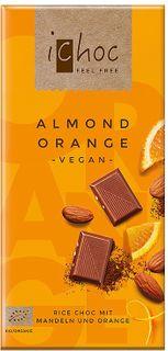 iChoc Vegan čokoláda mandle/pomaranč 80 g