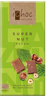 iChoc Vegan čokoláda čokoláda/oříšek 80 g