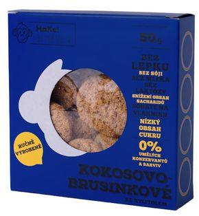 MaKe! Sušienky kokos/brusnica 50 g