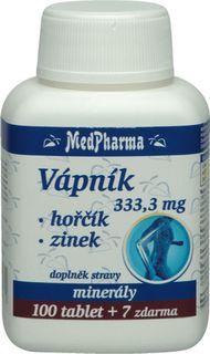 MedPharma Vápnik 333,3mg + horčík + zinok