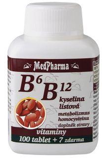 MedPharma Vitamín B6 B12 + kyselina listová