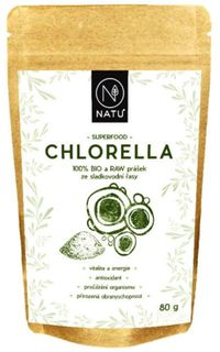 Natu Chlorella prášok BIO