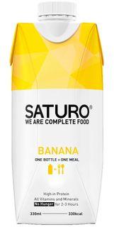 SATURO Ready To Drink Food banán 330 ml