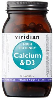 Viridian High Potency Calcium & D3 90 kapslí