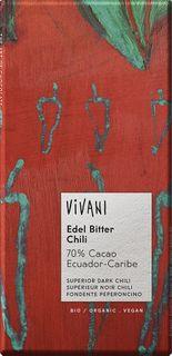 VIVANI Čokoláda BIO horká čokoláda/chilli 100 g