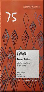 VIVANI Čokoláda BIO horká čokoláda 75%/kokosový cukor 80 g