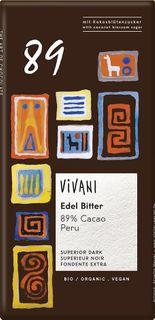 VIVANI Čokoláda BIO horká čokoláda 89%/kokosový cukor 80 g