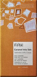 VIVANI Čokoláda BIO mliečna čokoláda/karamel/soľ 80 g
