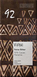 VIVANI Čokoláda BIO horká čokoláda 92%/kokosový cukor 80 g