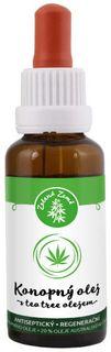 Zelená Země Konopný olej s tea tree olejom