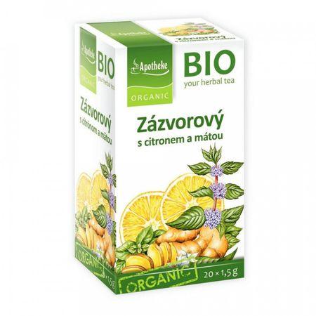 Green Apotheke Zázvorový čaj s citrónom a mätou BIO