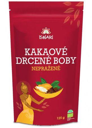 Iswari Nepražené kakaové bôby drvené BIO