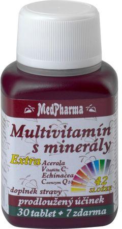 MedPharma Multivitamín s minerálmi + extra C