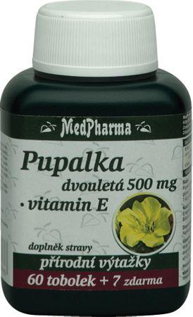 MedPharma Pupalka dvojročná 500mg + vitamín E