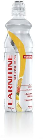 Nutrend Carnitine Activity drink with caffeine pomaranč 750 ml