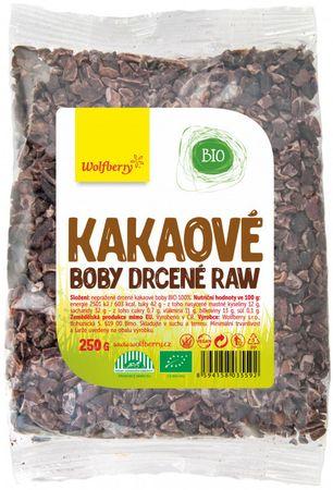Wolfberry Kakaové bôby drvené BIO