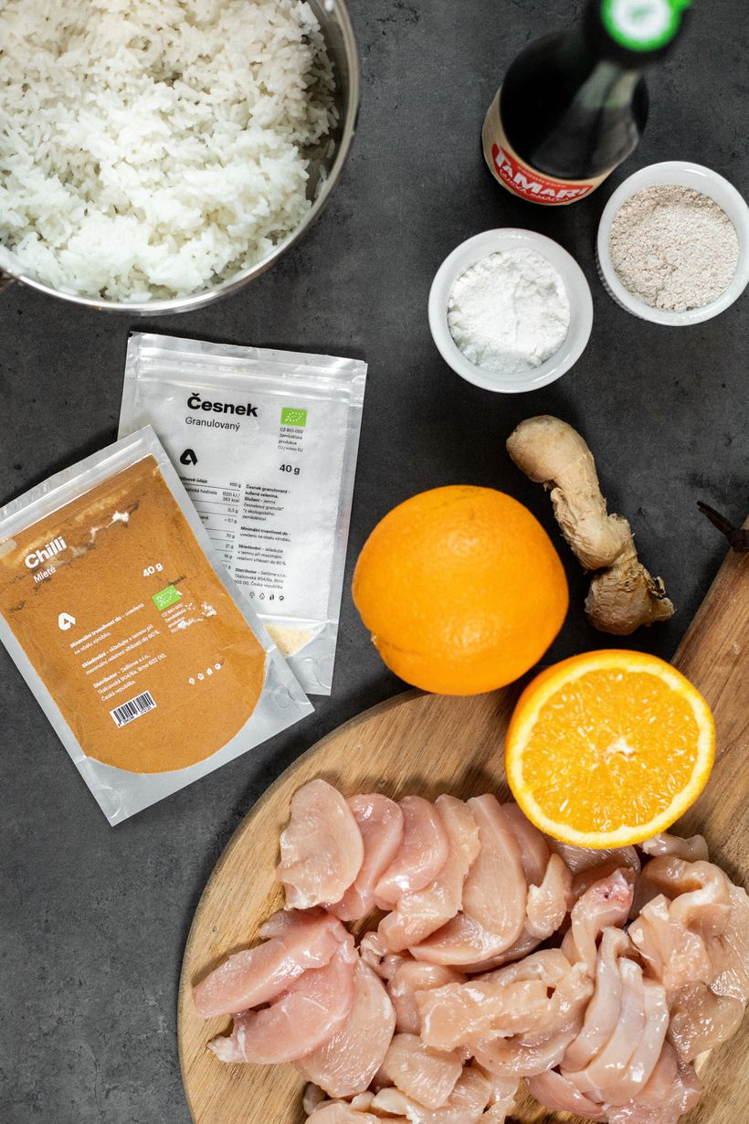 Zdravý oběd schutí Asie: Pomerančové kuře