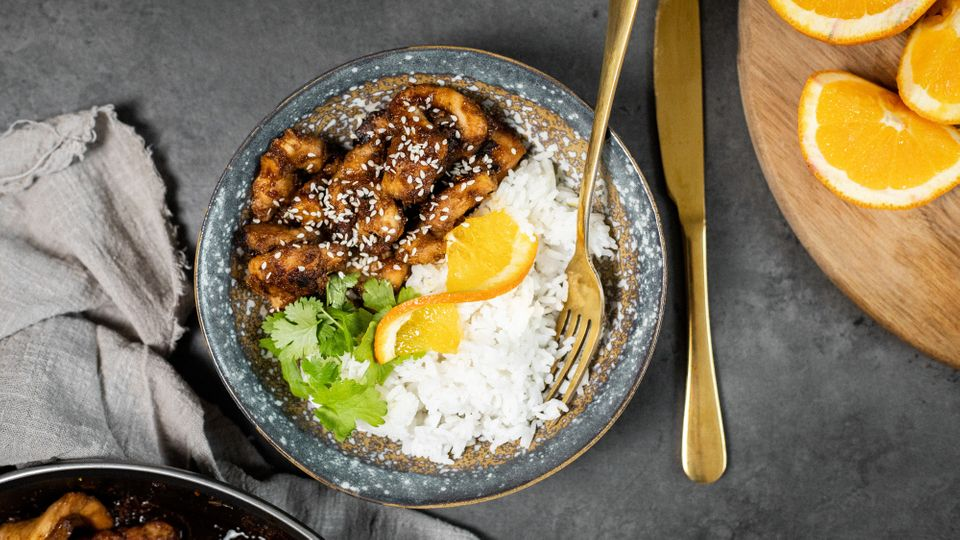 Zdravý oběd s chutí Asie: Pomerančové kuře